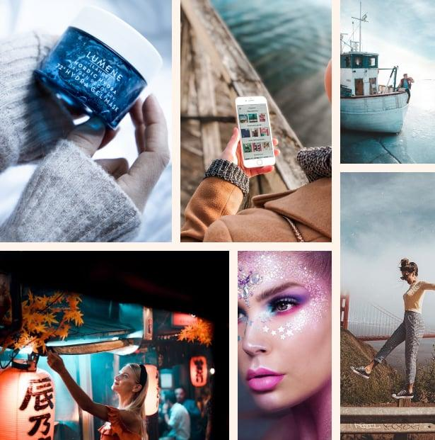 Sample photos from Boksi content campaigns